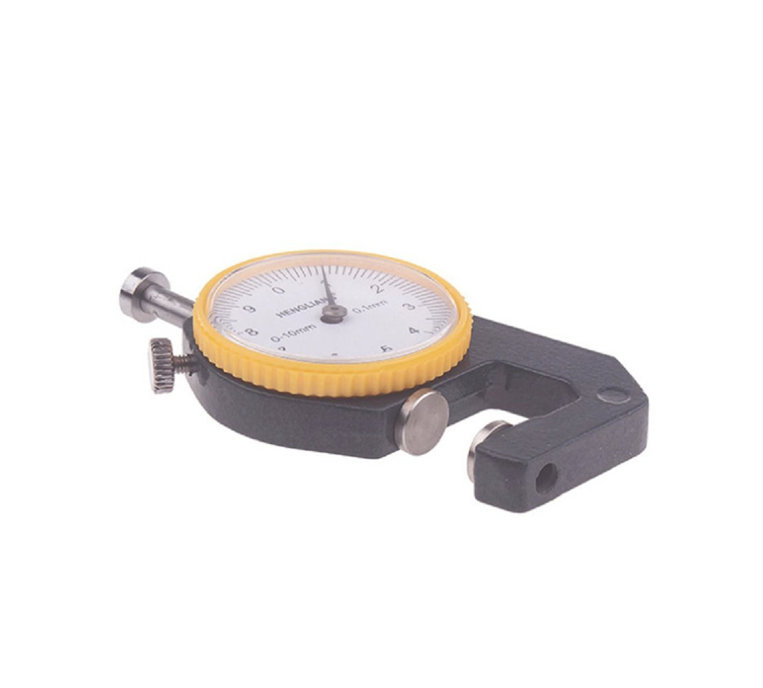 Driak 0-10mm dial Thickness Meter Gauge 0.1mm Depth Tester for Paper Film Leather Thickness Measuring Tool