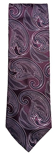 Hart Schaffner Marx Unique Swirls Traditional Silk Tie F65TH302 (Purple)