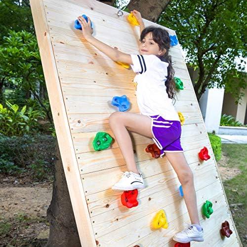 10Pcs Rock Climbing Wall Stones Hand Feet Holds Grip Accessories Set Swing E0N2