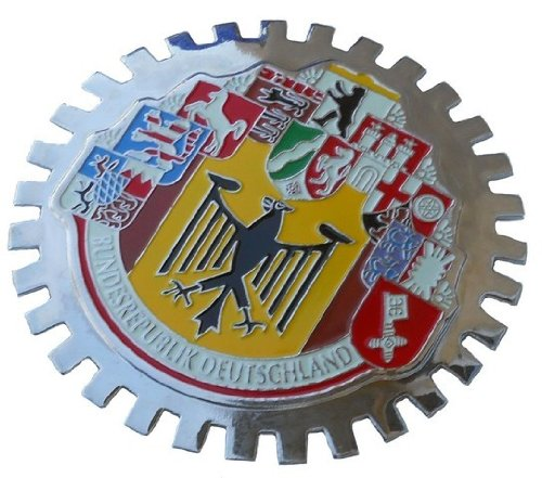 10 German cities car grille badge - City Badge