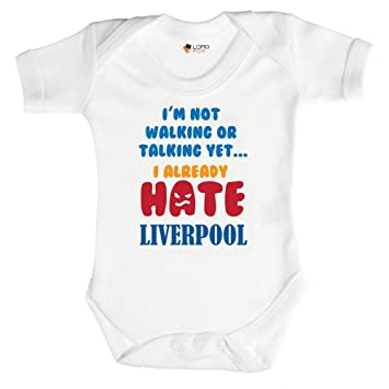 a85527d2e 0-3 Months Babygrow I Hate Liverpool Funny Baby Grows Bodysuit Vest Top  Football Theme