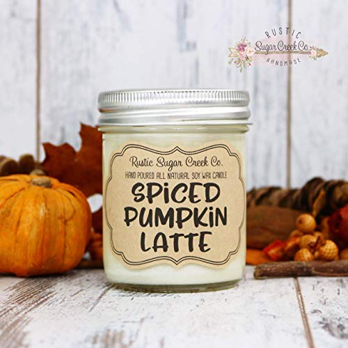 - Spiced Pumpkin Latte Scented Candle, Soy Wax Candle, Coffee Candle, Fall Scented Candle, Halloween Candle, Pumpkin Latte, Autumn Candles