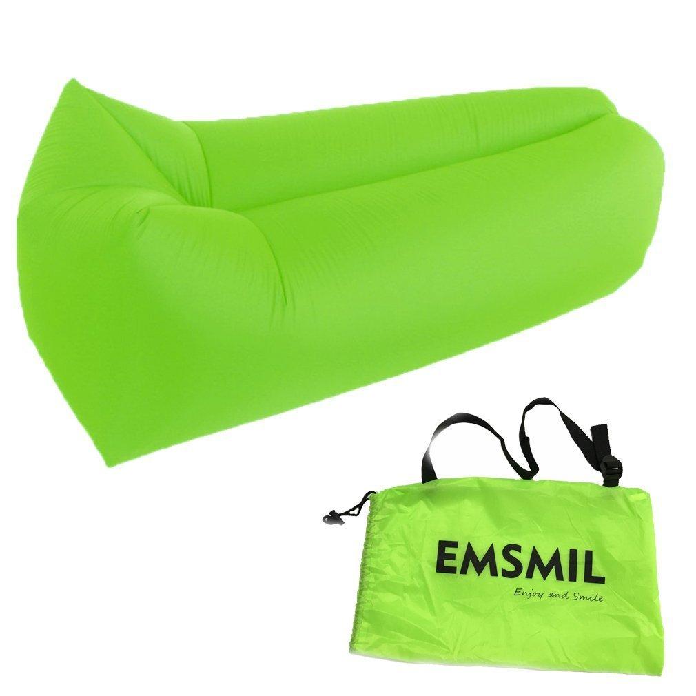 Inflable aire tumbona de compresión bolsa emsmil sofá cama saco de dormir portátil al aire libre inflable silla plegable resistente al agua para descansar.