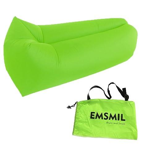 Inflable aire tumbona de compresión bolsa emsmil sofá cama saco de dormir portátil al aire libre