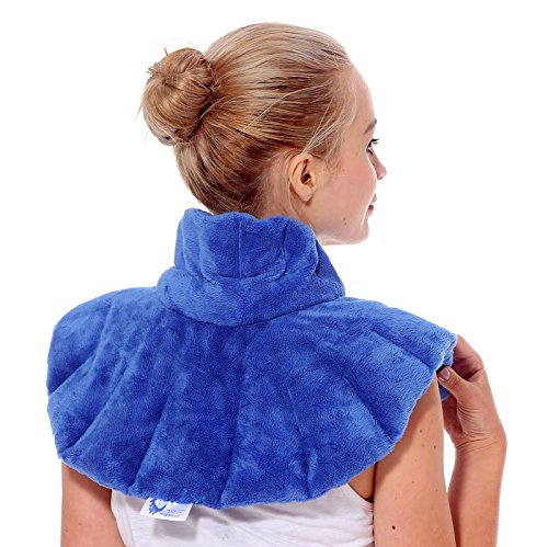 Huggaroo Microwavable Heating Pad for Neck and Shoulder Pain, Stress Relief | Hot/Cold Neck Wrap with Lavender Herbal Aromatherapy | Soothe Sore, Tense, Aching, Muscles; Migraine Headaches, Arthritis