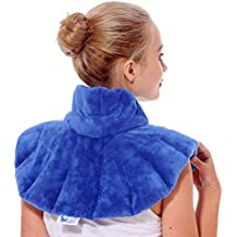 Huggaroo Neck Wrap: Microwavable, Herbal Aromatherapy, Use Hot or Cold; soothe aches and tension in the neck and shoulders, migraines, headaches, and arthritis pain with deep heat and aromatherapy