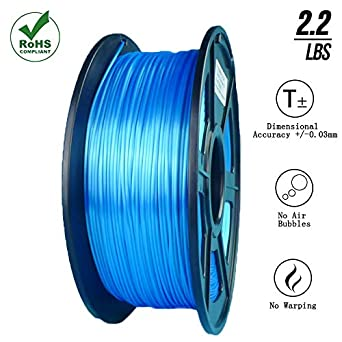 SunTop PLA 3D Printing Filament 1.75mm Navy Blue 1 kg Spool Rohs Compliance Dimensional Accuracy +//- 0.03 mm