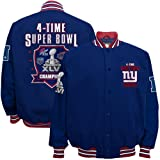 nfl superbowl champion jacket - NFL New York Giants Super Bowl XLVI Champions 4-Time Champs Cotton Canvas Jacket - Royal Blue (Medium)