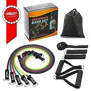 Amazon com : SMAID Premium Resistance Band Set - Include 5