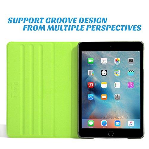 ULAK Ultra Slim 360 Rotating Smart Sleep / Wake Stand Case for Apple iPad Mini 1 / 2 / 3 - Green Photo #3