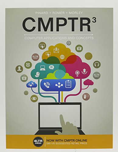 Bundle: CMPTR, 3rd + CMPTR Online, 1 term (6 months) Printed Access Card + SAM 365 & 2016 Assessments, Trainings, and Projects with 1 MindTap Reader Multi-Term Printed Access Card by Course Technology