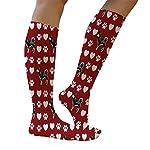Funny Knee High Socks Alaskan Klee Kai Dog Red Polyester Tube Women & Men 1 Size 12