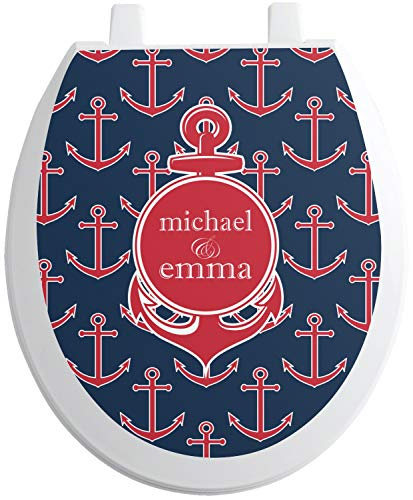 RNK Shops All Anchors Toilet Seat Decal - Round (Personalized)
