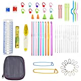 Crochet Kits, 22 pcs crochet hooks with 42 Accessories Crochet Hooks Yarn Knitting Needles Sewing Tools and Other Crochet Tools