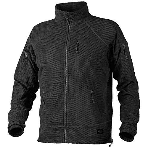 - Helikon Men's Alpha Tactical Jacket Grid Fleece Black Size L