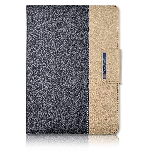 Thankscase iPad 4 case, iPad 4 Rotating Case Cover with Hand Strap and Wallet Case for iPad 4th Generation with Retina Display,for The New iPad 3,for iPad 2 (Not fit ipad air 2).(Black Gold) (Best Price Ipad 4th Generation)