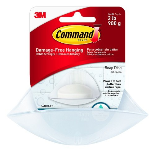 3M Command Soap Dish with Water-Resistant Strip