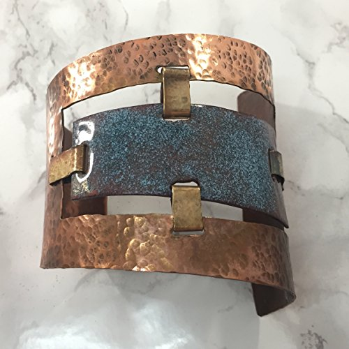 Enameled Copper Cuff Statement Bracelet (Enameled Cuff)
