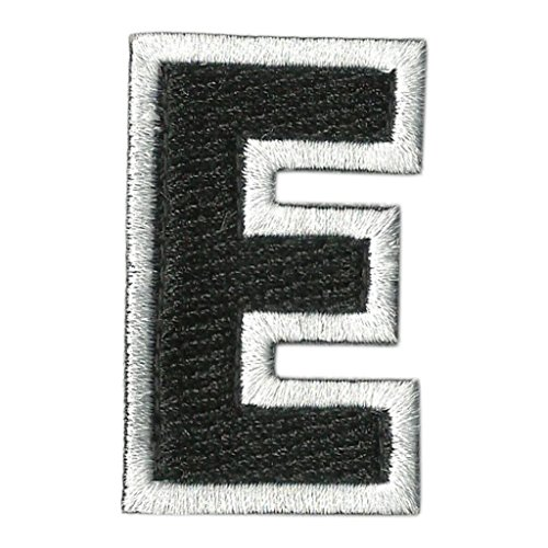 Tactical Letter Patches - Black/White - E ()