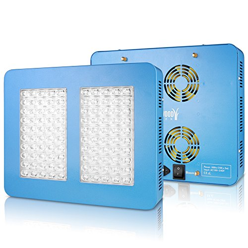 513FLY NqsL - Sandalwood 300W Dual Mode LED Grow Light for Hydroponic Garden and Greenhouse Use - Dual Grow / Bloom Spectrum