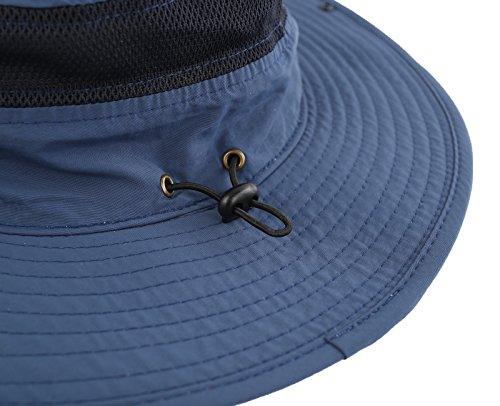 92b1d3f66ce6e Connectyle Outdoor Mesh Sun Hat Wide Brim Sun Protection Hat Summer Fishing  Hunting Hiking Gardenig Hat