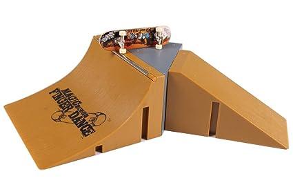 Skate Board Ramp >> Amazon Com Fanci Finger Skateboard Ramps Park Set For Tech Deck