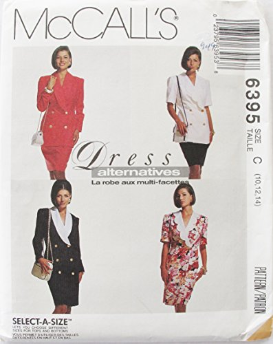 - McCall's 6395 Vintage Misses One or Two Piece Dresses SZ 10 12 14 SEWING PATTERN