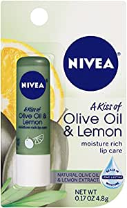 NIVEA Olive and Lemon Lip Care, 0.17 Ounce