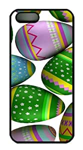 Colorful Easter Eggs 3 custom iphone 5S cases PC Black for Apple iPhone 5/5S