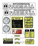 FA604SB Hood & Safety Decal Set Made For Farmall International SUPER H Tractor