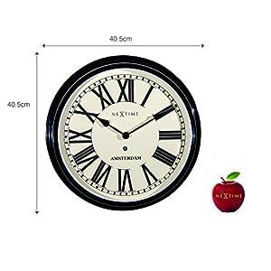Nextime Amsterdam - Reloj de Pared (Redondo, 40,4 cm), diseño Retro 3