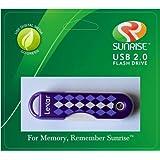 Lexar JumpDrive TwistTurn 8 GB USB 2.0 Flash Drive Purple Argyle