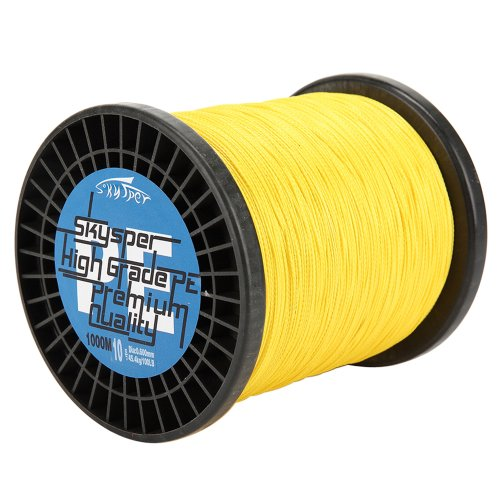 Skysper174;1000m Premium Quality Sea Fishing Line Braided Yellow 30lb For Sale
