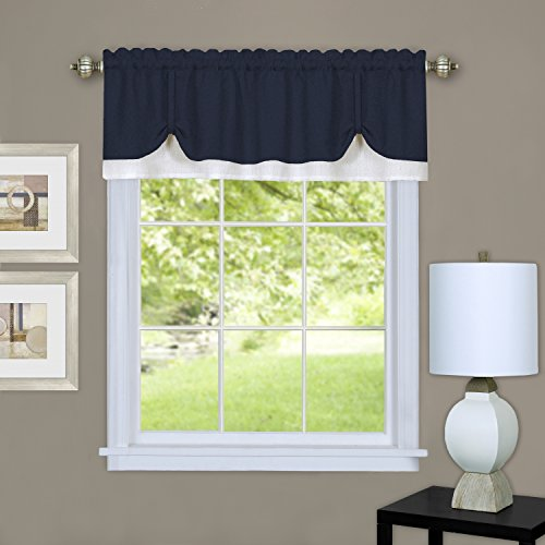Achim Home Furnishings DRVL14NW12 Darcy Window Curtain Valance, 58
