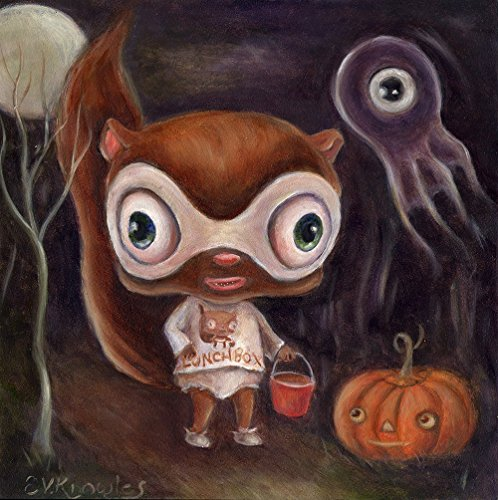 [Halloween Wall Art Print, Funny Dressed Animal Trick or Treating, Size & Mat options available] (Halloween Costumes Gallery)