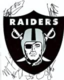 Raiders Logo Signed By 5 Raiders 18.99 Signed Autographed 8x10 Photo W/coa - Autographed NFL Photos