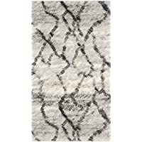 Safavieh Retro Collection RET2144-7990 Modern Abstract Light Grey and Black Runner (23 x 11)