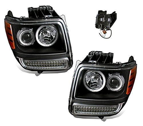 SPPC Black Projector Headlights Assembly Set With CCFL