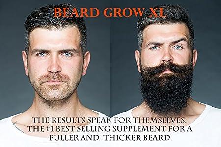 Amazon Com Beard Grow Xl Facial Hair Supplement Vegan 1 Mens