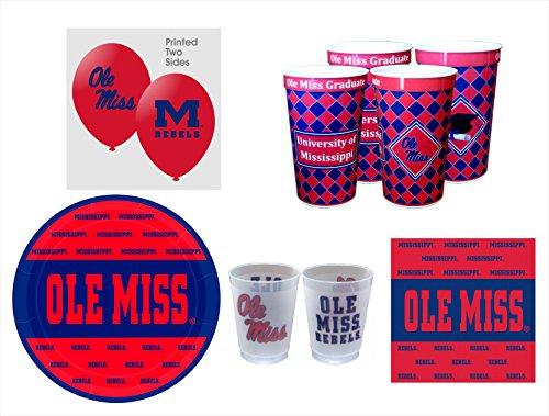 (Westrick Mississippi Rebels GRADUATION Party Pack - 57)