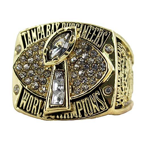 Super Bowl 1966 - 2019 Replica Championship Ring (Size 11) New England Patriots Philadelphia Eagles Denver Broncos Chicago Bears Seattle Seahawks Green Bay Packers (Size 11, 2002 Tampa Bay Buccaneers) (Tampa Bay Buccaneers Replica Super Bowl Ring)