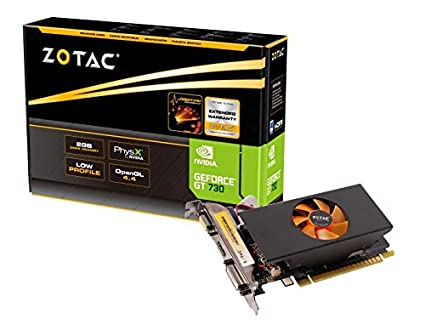 Zotac Nvidia GT 730 2GB DDR5 PCI-e Graphics Card