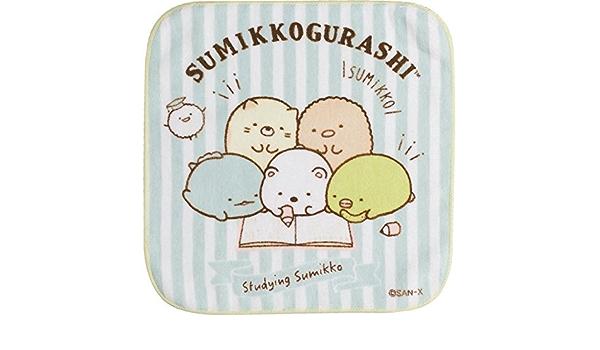 100/% Cotone Asciugamano Tascabile Colori Pastello San-X Asciugamano Sumikko Gurashi in Cotone 25x25cm Sumikko Gurashi Characters Flowers CM21201