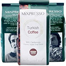 Mixpresso's Ground Turkish Coffee with Cardamom, 10 Ounces Bags (Pack of 4)
