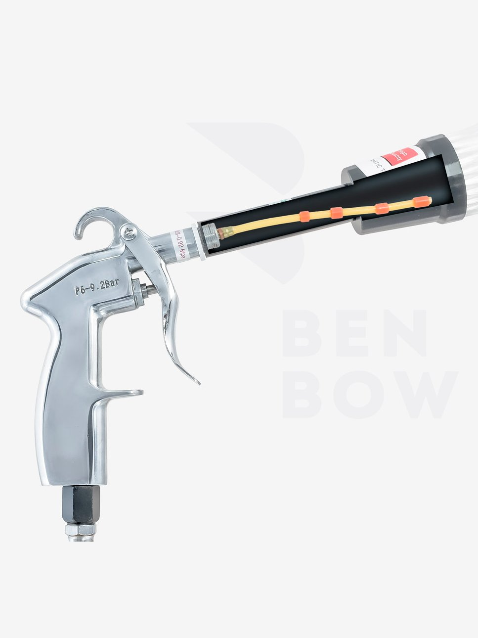 08 5 unidades Manguera roja 04 09 03 para pistola de limpieza Benbow 02