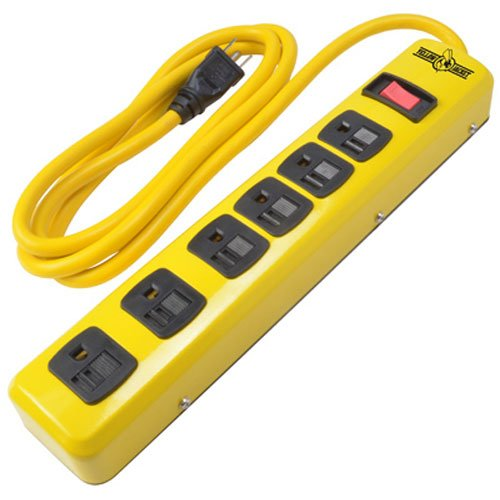 Yellow Jacket 5139N Heavy Duty Metal Power Strip with 6 Outlets And 6 Foot (Heavy Duty Electrical)