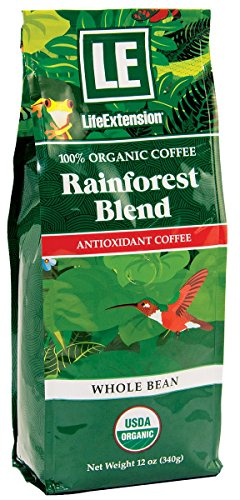 (Life Extension Rainforest Blend (Whole Bean) Coffee, Natural, 12 Ounce)
