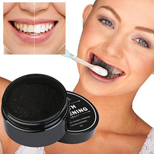 Teeth Whitening,Saingace Powder Natural Organic Activated Charcoal Bamboo Whitening Toothpaste (Black)
