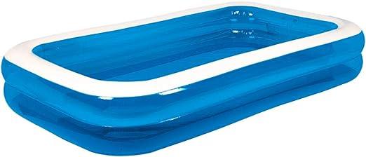 PETSOLA Piscina Inflable Familiar Rectangular Juguete De Piscina para Nadar Al Aire Libre - 200x150x50cm: Amazon.es: Juguetes y juegos