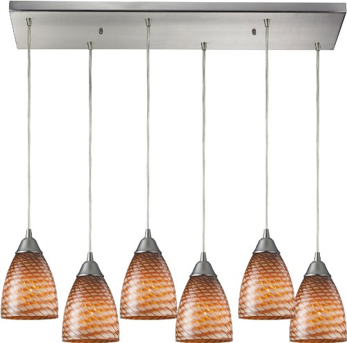 elk-416-6rc-c-30-by-9-inch-arco-baleno-6-light-pendant-with-cocoa-glass-shade-satin-nickel-finish